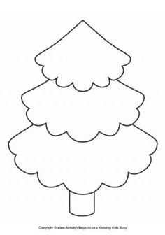 Christmas Tree Cut Out Template | tree template this pretty tree template could be useful for