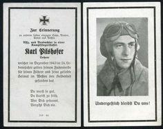 orig. WK2 STERBEBILD - DEATH CARD - PILOT KAMPFFLIEGER - FRANKREICH - NORMANDIE