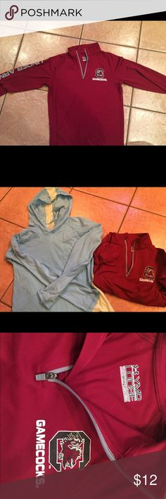Girls Armour Running shirt Gamecocks SZ 12 2 athletic tops girls size 12. Under Armour pull over and a Soffe hoodie pullover. Under Armor like new and other one gently used. Under Armour Shirts & Tops Sweatshirts & Hoodies