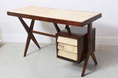 Italia Modern Mahogany and Parchment Desk, Silvio Cavatorta 4