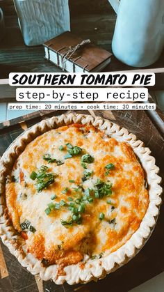 Southern Tomato Pie, Vegetarian Recipes, Cooking Recipes, Healthy Meals For One, Southern Recipes, I Love Food, Summer Recipes, The Help, Breakfast Recipes