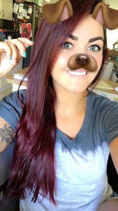 L'Oréal hi color red hot & magenta Loreal Hair Color Red, Loreal Hi Color Magenta, Magenta Hair, Red Hair Color, Hair Colors, Cute Haircuts, Cute Hairstyles, Edgy Hair, Red Hair