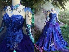 Sybill Mistry-Trelawnwey's Costume - Blue Fairy Princess Sybill's older sister is a model, they begged her to lend them a dress. Cora did her one better, however, and gave it to them. The dress...