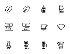 Designed by Oliver Pitsch, Barista is an icon set dedicated to all baristas and coffee lovers. It consists of 50 carefully crafted vector icons. The icons are drawn on a special 256px grid adapted from the iOS icon grid. All icons are available as 128px PNG (+ @2x 256px versions), as well as Illustrator EPS and SVG files.