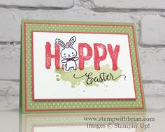 Basket Bunch, Happy Celebrations, Suite Sentiments, Stampin' Up!, Brian King, Easter card