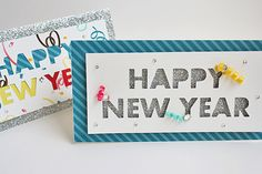 silhouette cameo cards | Happy New Year Handmade Cards Using Silhouette Cameo |
