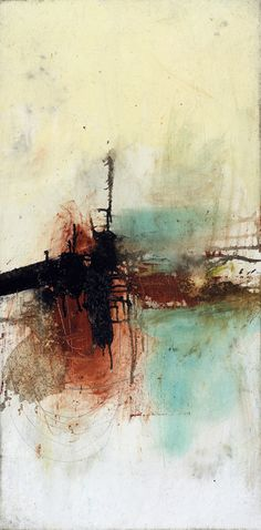 KECK ABSTRACT ART PAINTING OF THE DAY: sink or swim new original abstract painting