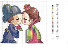Solo Patrones Punto Cruz | Aprender manualidades es facilisimo.com Royal Hanbok Korea
