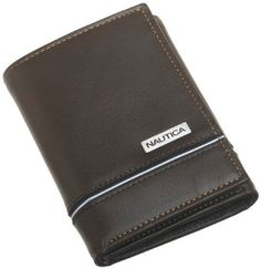 Nautica Men's Trifold Wallet, Brown, One Size (Apparel) Mens Wallet With Chain, Wallet Chain, Cool Mens Wallets, Men's Wallets, Mens Belts For Jeans, Men's Belts, Skinny Wallet, Amazon Clothes, Leather