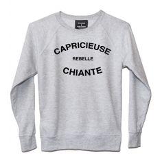 T-shirt femme CAPRICIEUSE REBELLE CHIANTE