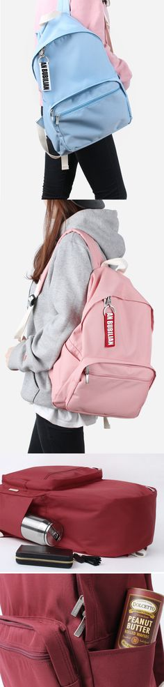"""If the simplicity is what you are looking for in your backpack, let us introduce you the Bubilian Basic Backpack! The spacious compartment can hold up to 13"""" laptop and books, notebooks and so much more. Also, 2 outside zipper pockets, 2 outside open pockets, and 1 inside open pocket are there too to improve the functionality! Available in various colors, you can choose your favorite color to show you personality!"""