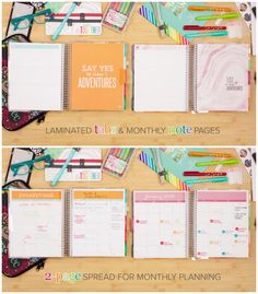 Keep your month organized with the Erin Condren Life Planner monthly spread. Oh, and monthly note pages are back!!! @erincondren