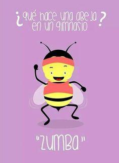 ¿Qué hace una abeja en un gimnasio? #compartirvideos #imagenesdivertidas  #watsappss