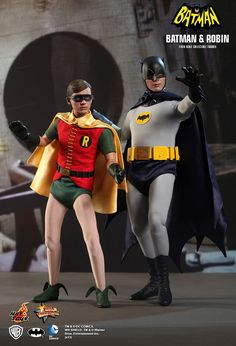Hot Toys has revealed their upcoming series of 1/6 scale Batman & Robin figures from the 1966 feature film based on the Batman TV series.  They are scheduled for released in late 2014.  The collectible figures are newly developed & highly detailed, specially crafted based on the image of Adam West as Batman and Burt Ward as Robin. They feature an accurate masked head sculpt, specially made costume with Batman logo, classic Robin costume, weapons, and accessories.