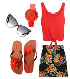 """""""Untitled #21"""" by sydney-lucidi on Polyvore featuring Crayo, MSGM, Splendid, IPANEMA and Tom Ford"""