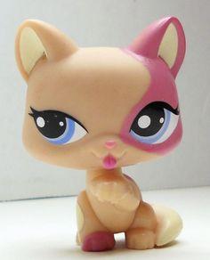 Littlest Pet Shop Cat #1402 pink and white kitten loose