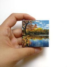My latest mini painting, inch : painting - Mini canvas art Small Canvas Paintings, Easy Canvas Art, Small Canvas Art, Mini Canvas Art, Small Paintings, Small Art, Acrylic Painting Canvas, Mini Toile, Painting & Drawing