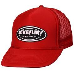 McKevlin's - Youth Size Classic Oval Trucker Hat - Red