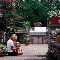 Outdoor Kitchen Areas are very popular and can usually be installed year round in the Baltimore area. #outdoor_kitchen thestonestore.com