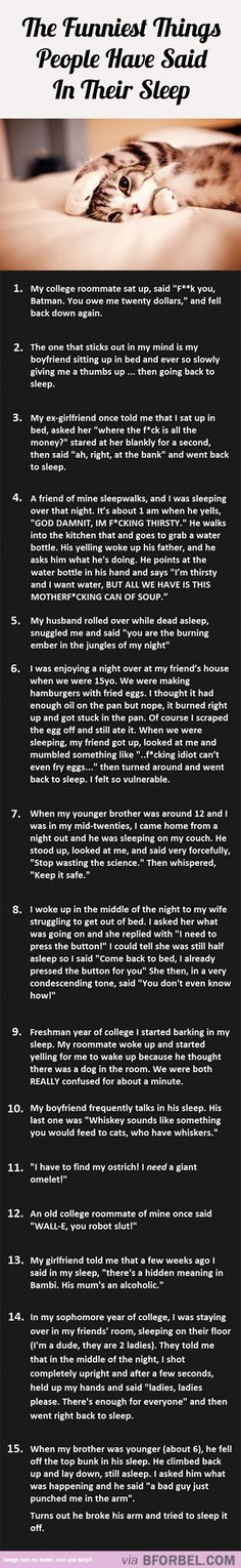 15 Of The Funniest Things People Have Said In Their Sleep…