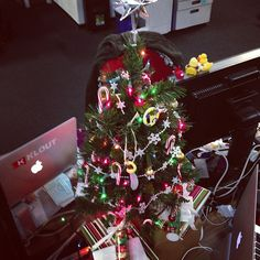 presents under the office #xmas tree! @desamarie @morganmcentire @ashleyjacober -- @claytonsu