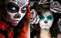 Mexican skull make-up - geekiss