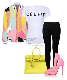 Untitled #3095 by stylebydnicole on Polyvore featuring polyvore fashion style Moschino Noisy May Christian Louboutin Hermès women's clothing women's fashion women female woman misses juniors