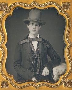 "sixth size portrait.  ""Willard Market St. AB(ove) 16th PHILADa"" was steam pressed into a bright red velvet cushion."