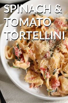 Our spinach and tomato tortellini makes the perfect weeknight meal. Ready in less than 30 minutes, it's creamy, delicious, and the perfect comfort food to get you to the weekend. Spinach And Tomato Tortellini, Tortellini Recipes, Pasta Recipes, Dinner Recipes, Cooking Recipes, Dinner Ideas, Weeknight Meals, Easy Meals, Gluten Free Puff Pastry