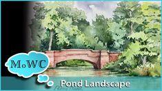 Watercolor Journaling an Estate Pond in Watercolor – Biltmore