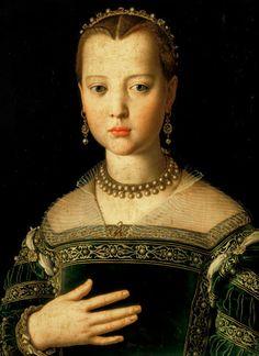 Agnolo Bronzino-Portrait of Marie de' Medici (1573-1642) as a child