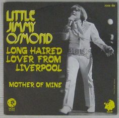 "Little Jimmy Osmond French 7"" SP Long haired lover...MGM"