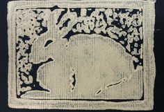 Bunny Block Print by JCDellArt
