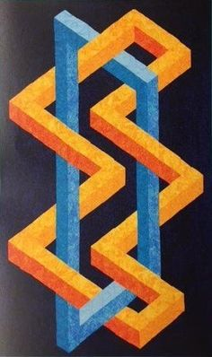 Simplifed Patterns by Ruth Ann Bery Bargello Quilts, 3d Quilts, Barn Quilts, Tumbling Blocks Quilt, Quilt Blocks, Quilting Projects, Quilting Designs, Optical Illusion Quilts, Geometric Quilt