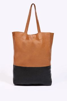 Two-Tone Leather Shopper - i've seen one like this at h&m some time ago ...