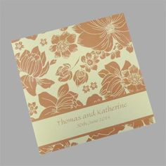 Spring wedding invitations. What says spring more beautifully than a floral design? www.kardella.com