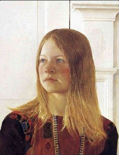"""Siri"" (detail), 1970, Andrew Wyeth."