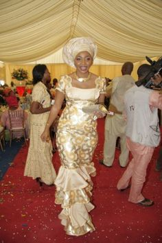 African Wedding Gown...maybe I can have this style in kente cloth for the reception :-)