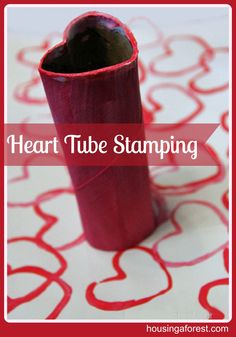 Heart Tube Stamping ~ Housing A Forest
