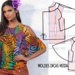 BLUSA FÁCIL DE FAZER-59 | Moldes Dicas Moda Chiffon, Casual, Tie Dye, Blouse, 1, Manga, Tops, Women, Style
