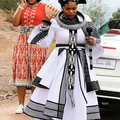 """""""A capable Wife! South African Traditional Dresses, Traditional Wedding Dresses, Traditional Outfits, Traditional Weddings, African Wedding Attire, African Attire, Xhosa Attire, Wedding Dress Sketches, African Wear Dresses"""