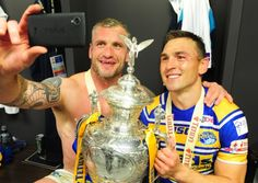 Jamie Peacock and Kevin Sinfield.