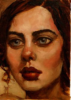 "NEW WOMEN 7 by Mollie Erkenbrack Oil ~ 7"" x 5"""