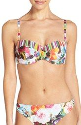 Ted Baker London 'Imariss' Mixed Print Underwire Bikini Top