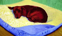 david hockney dachshund painting | David Hockney Dogs - smart reviews on cool stuff.