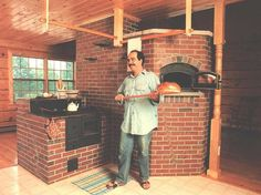 Masonry Wood Stoves -- Way more efficient that the classic American metal stove—you can cook on these or they can serve as a small heater. Cooking Stove, Stove Oven, Rocket Mass Heater, Stove Fireplace, Kitchen Fireplaces, Outdoor Fireplaces, Pizza Oven Outdoor, Wood Fired Oven, Rocket Stoves