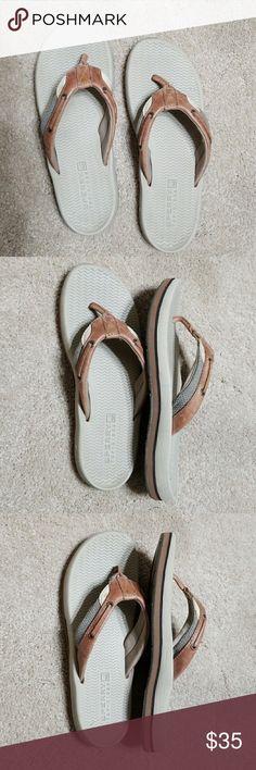 Sperry Top Sider flip flops mens 6m Flip flops cream sperry top sider Sperry Top-Sider Shoes Sandals & Flip-Flops