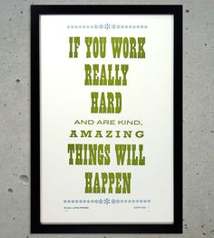 Expect amazing things