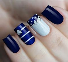 Pin on Uñas pies Pin on Uñas pies Disney Acrylic Nails, Best Acrylic Nails, Gel Nail Art, Nail Manicure, Gel Nails, Heart Nail Designs, Cute Nail Art Designs, Pretty Nail Art, Beautiful Nail Art