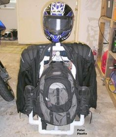 Build A Pvc Motorcycle Gear Cady Valet Going To This Hold My